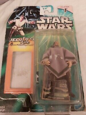 STAR WARS POWER OF THE JEDI QUI GON JINN MOS ESPA DISGUISE FIGURE unsealed card