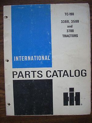 Ih Farmall Mccormick International 3388 3588 3788 Parts Manual