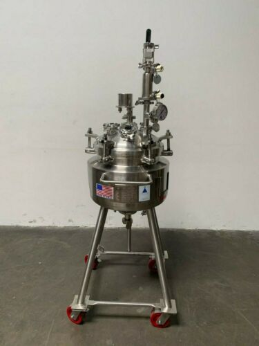 Precision 30 Liter Stainless Steel Jacketed Reactor 60 PSI w/ level monitor