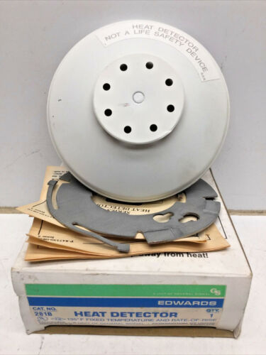 EDWARDS Signaling 281B Heat Detector 135F Fixed Temperature & Rate of Rise