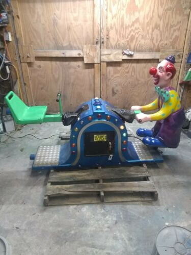 Coin Operated Kiddie Ride, See-Saw W/Clown