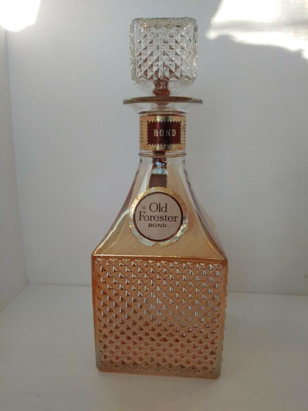 Vintage Old Forester BOND 100 Proof Bourbon Bottle 68 Christmas