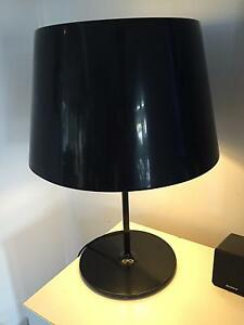 Black Table lamp with Metal shade Paddington Eastern Suburbs Preview