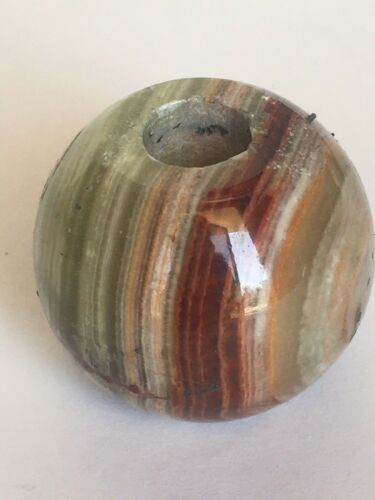 "NEW OLD STOCK~ 3.5"" dia Onyx Ball Lamp Spacer Break lamp part-Med Green"