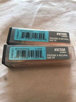 Propanenatural Gas Cutting Tip 1-gpn For Victor Type Torch-1 Tip-2 Pack