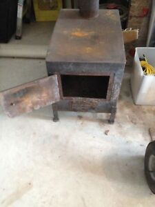 Small home made wood stove.