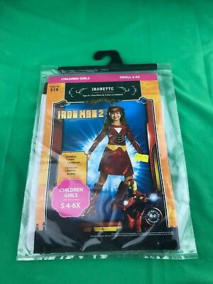 Children Girls IRONETTE Costume NEW! Size Small 4-6 Iron Man 2 Avengers