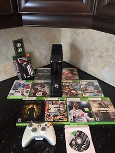 250GB XBOX 360 Bundle Comes with 12 Games, Controller