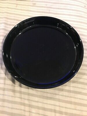 "Black Corning Ware Pie Plate F-3-B. 10-1/2"" Across Excellent Condition"