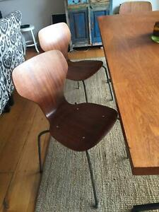 Six Danish Antique Dining Chairs