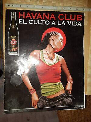 Greek vintage Havana club rum poster advertisement with live music in function