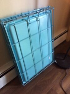 Small Blue Dog Crate