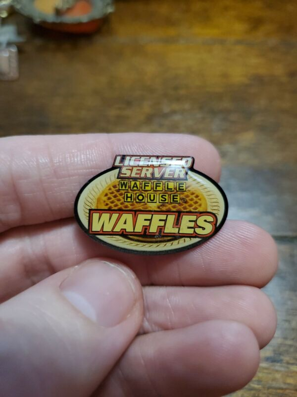 Vintage Waffle House Licensed Server Waffles Pin Extremely Rare