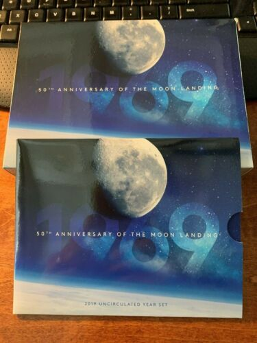 2019 Royal Australian Coin Proof and Uncirculated Coin Set - Moon Landing Ann