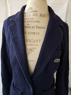Lacoste Sport Presidents Cup Navy Blue Button Blazer/Jacket Size 42