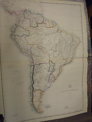 South America map from Dispatch Atlas 1860 T.Ettling 61 x 42cm Framed40 more