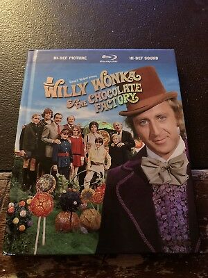 BluRay - Willy Wonka and the Chocolate Factory (2009, Book Packaging) RARE (Willy Wonka And The Chocolate Factory Musical Script)