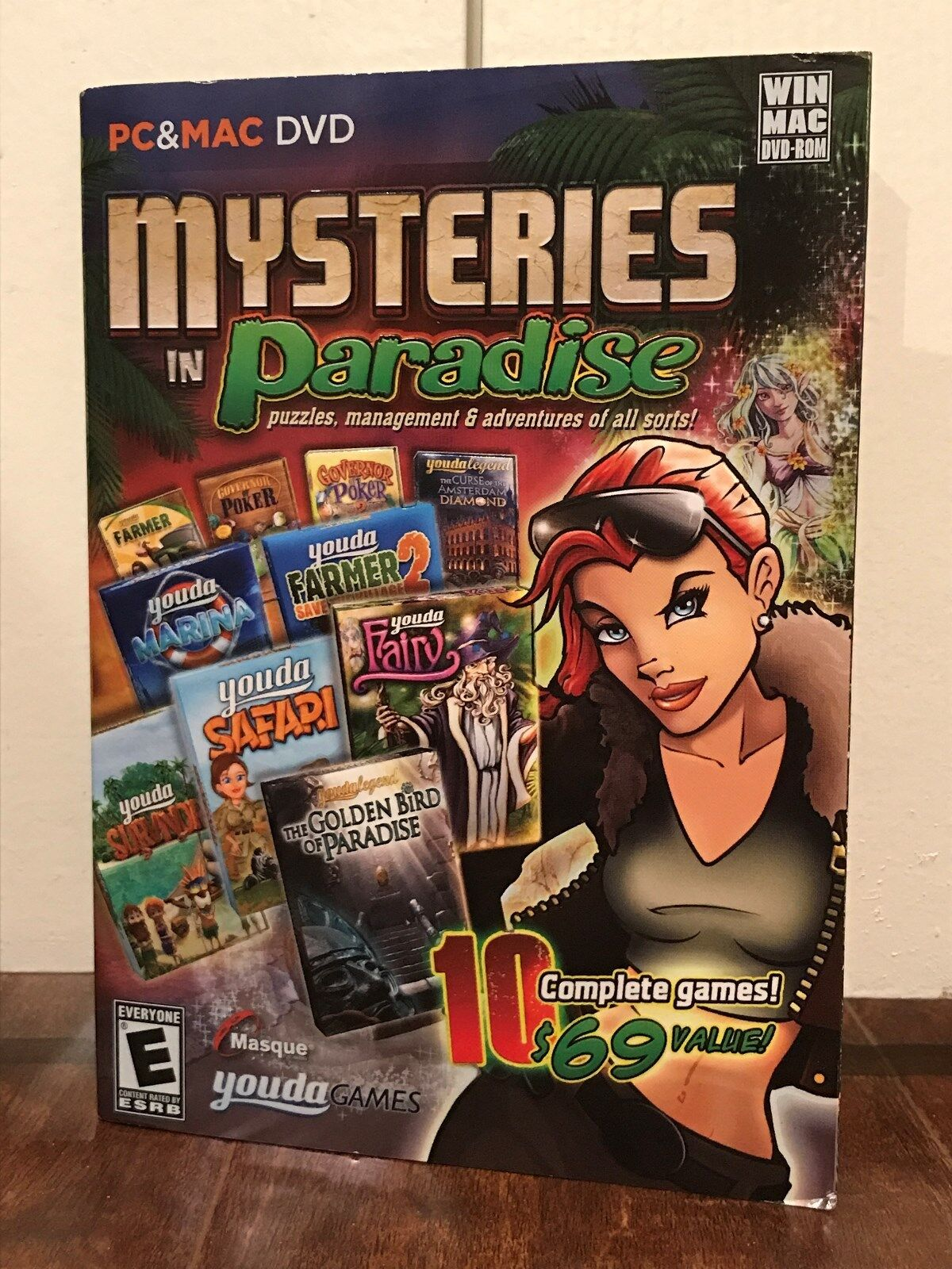 Computer Games - mysteries in paradise --- 10 complete puzzle & adventure computer games --- new
