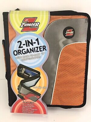Case-it Z-binder Two-in-one 1.25 D-ring Zipper Binders Purple Z-175 Orange Gray
