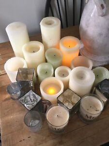 Lot of candles - used for wedding decor