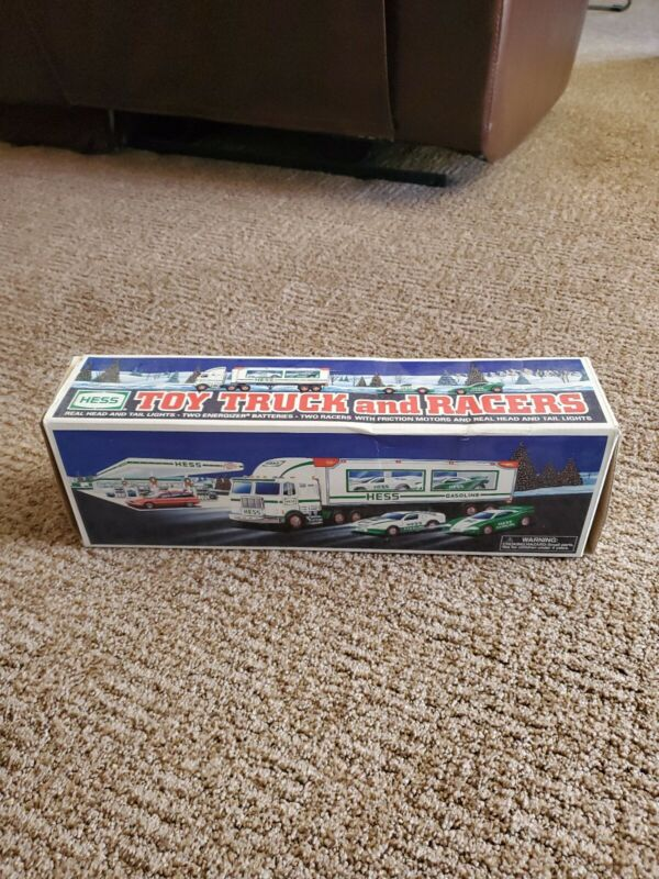 HESS TOY TRUCK AND RACERS 1997 NEW IN ORIGINAL BOX