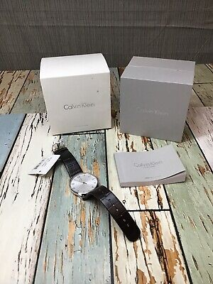 Calvin Klein Classic Quartz Movement Silver Dial Men's Watch K4D211G6 *READ*