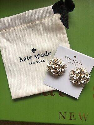 Kate Spade New York White Daisy Cluster Earrings