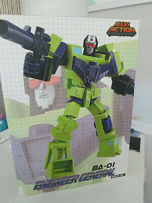 Transformers Before & After BA-01 ENGINEER GENERAL Devastator B&A