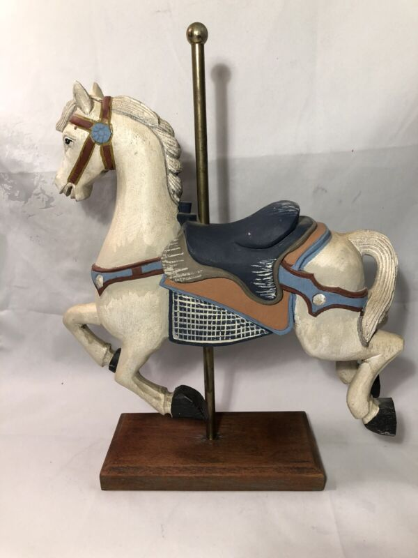 Distressed Large Vintage Carousel Horse. Shabby Chic