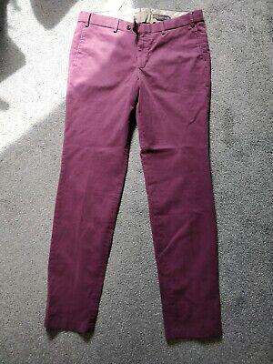 Burgundy BNWT Hiltl Slim Fit Chino Cotton Trouser Size 36 (Eur 52)