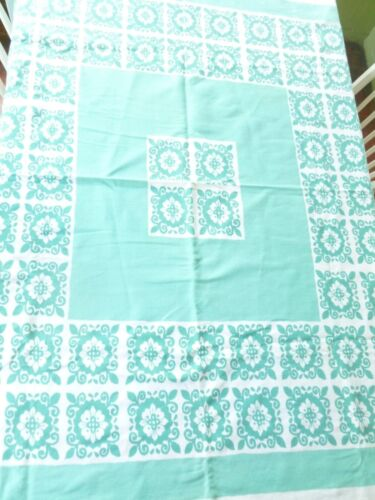 Startex Starglow Vintage Mint White Duck Cloth Tablecloth
