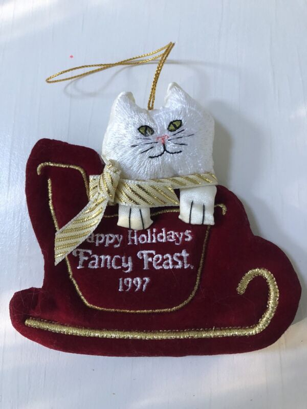 FANCY FEAST Christmas ORNAMENT 1997 Collectible