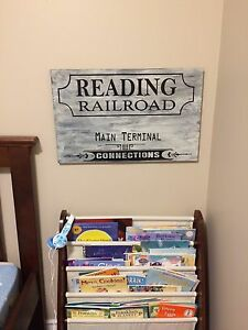 Solid Wood RR Theme Sign