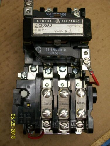 General Electric CR306A0 CONTACTOR 9 Amp  Nema Size 00
