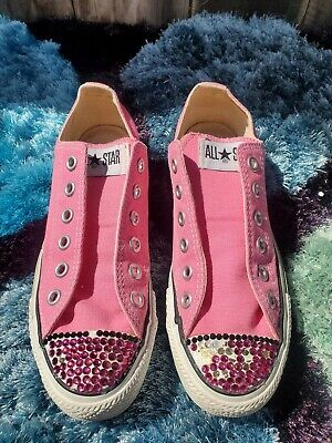Converse All Star Size Womens 7 Mens 5  Pink  Low Top Fabric Shoes