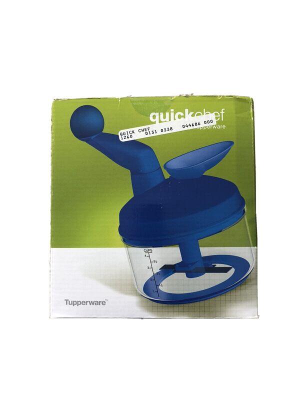 Tupperware Quick Chef Chopper - Sapphire Blue - Open Box - Unused