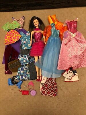 Vintage Barbie With Clothes And Accessories Bundle