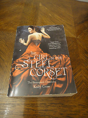 """""""THE GIRL IN THE STEEL CORSET"""" BY CROSS KADY STEAMPUNK CHRONICLES SOFTCOVER EUC"""