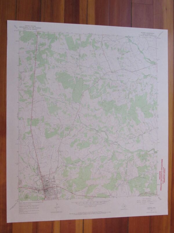 Burnet Texas 1970 Original Vintage USGS Topo Map