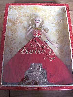 BARBIE 2014 HOLIDAY Barbie in Red & Gold Dress Collector's Edition NEW