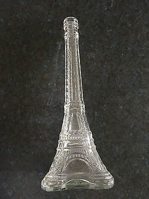 Vintage Eiffel Tower Decanter in clear glass