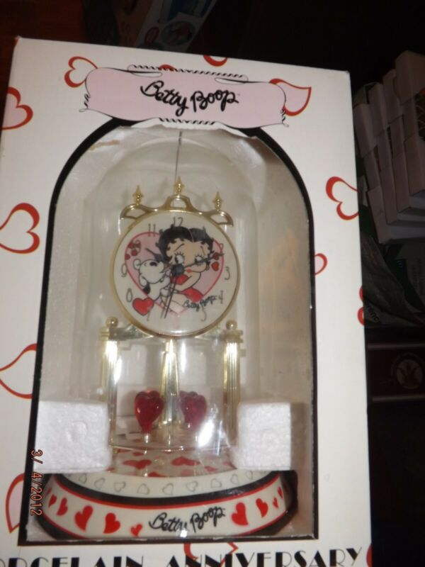 Betty Boop Porcelain Anniversary Collectible Clock--Brand New