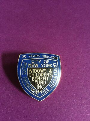 New York City Fire Department And Police Department  Pin NEW