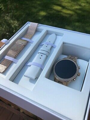 Michael Kors Access MKT5060 Rose Gold Touch Screen Runway Smartwatch Gift Set