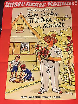 Original Plakat Barlog 30er Jahre, Romanhefte, Leihbücher, 5 Schreckensteiner