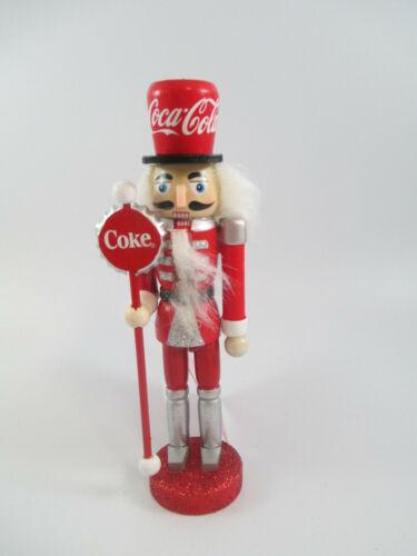 Coca-Cola Kurt Adler Wooden Nutcracker Holiday Christmas Ornament