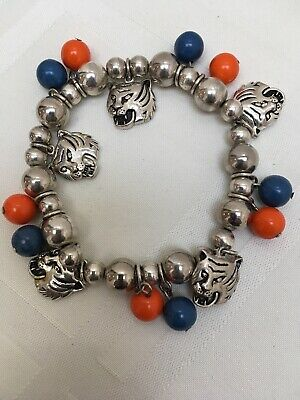 Auburn Tigers Charm Bracelet Stretch NCAA Final Four Basketball Football V