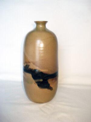 Studiokeramik Vase, wohl Japan, signiert
