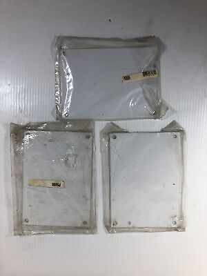 Wiegmann White Metal Back Plane P0806 Electrical Enclosure Inner Panel Lot Of 3