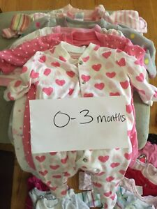 0-3 month baby girls lot
